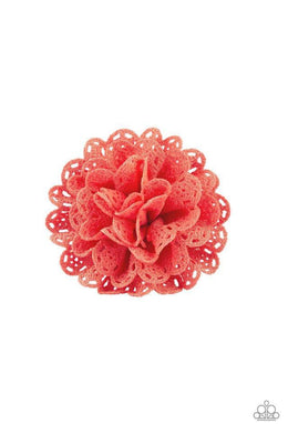Paparazzi Floral Fashionista - Airy Scalloped Coral Petal Blossom Hair Clip - Bling It On Online