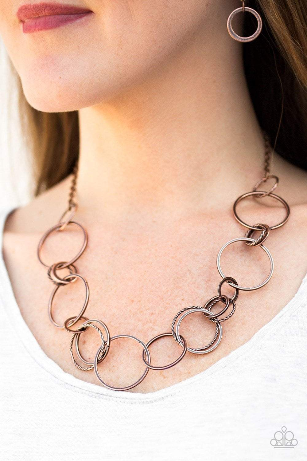 Paparazzi Follow The RINGLEADER - Copper - Necklace - Bling It On Online