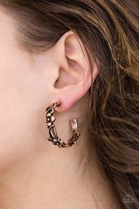 Paparazzi Garden County - Copper - Earrings - Bling It On Online