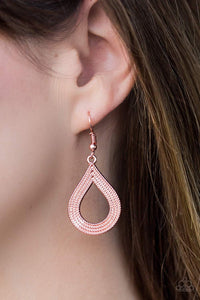Paparazzi Give Me A GLINT! - Copper - Earrings - Bling It On Online