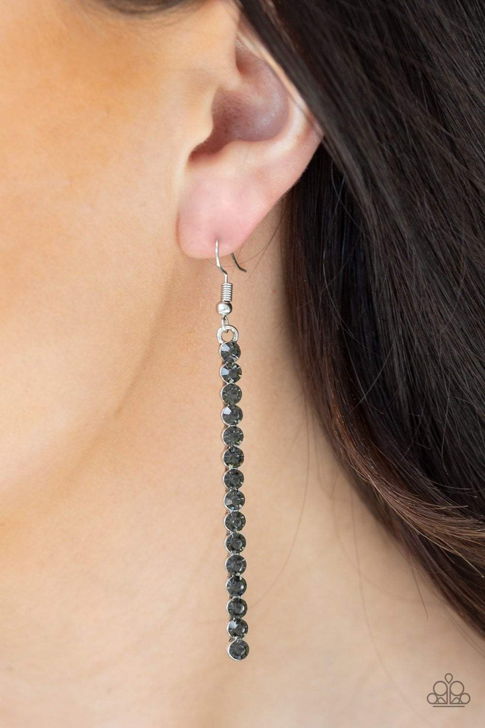 Paparazzi Grunge Meets Glamour - Silver Earrings - Bling It On Online