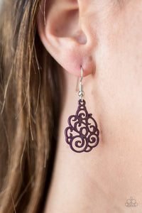 Paparazzi Happy DAZE - Purple Earrings - Bling It On Online