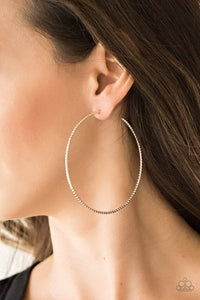 Paparazzi Hooked On Hoops -  Large Diamond Cut Rose Gold Hoop Earrings - Bling It On Online
