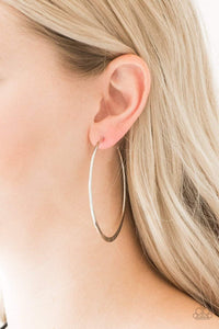 Paparazzi Hoop Hero - Silver Earrings - Bling It On Online