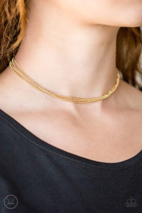 Paparazzi If You Dare - Gold Necklace - Bling It On Online