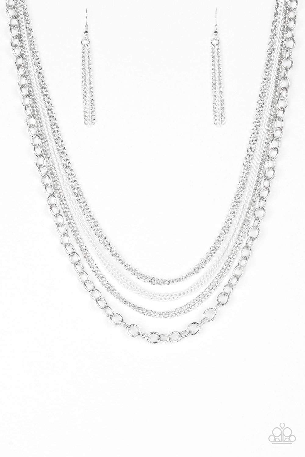 Paparazzi Intensely Industrial - White Necklace - Bling It On Online