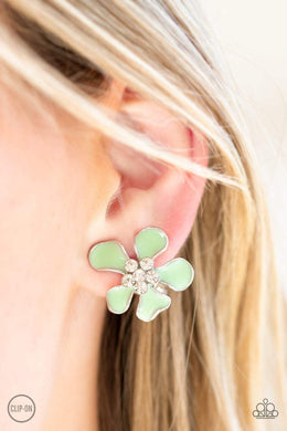 Paparazzi Island Iris - Green Earrings - Bling It On Online