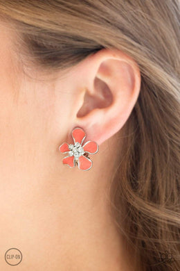 Paparazzi Island Iris - Orange Earrings - Bling It On Online