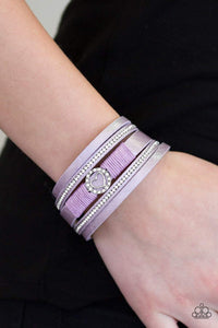 Paparazzi It Takes Heart - Purple Bracelet - Bling It On Online