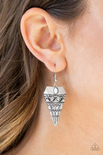 Load image into Gallery viewer, Paparazzi Jurassic Journey - White Earrings - Bling It On Online