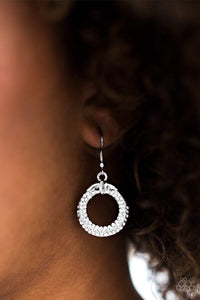 Paparazzi Ladies GLAM - White Earrings - Bling It On Online