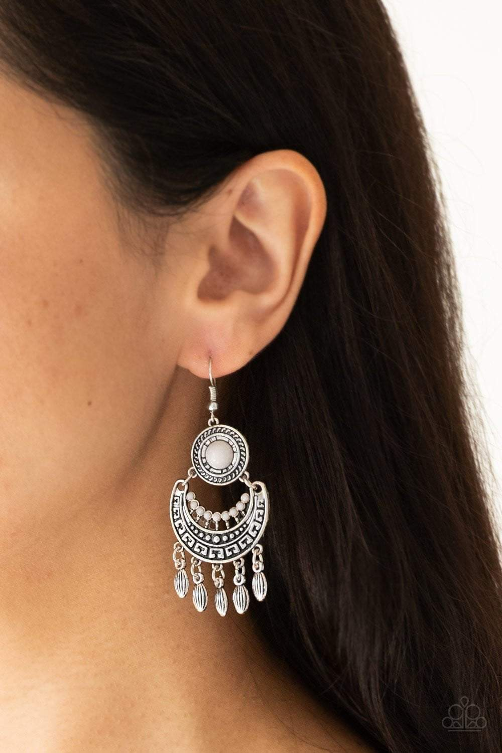 Paparazzi Mantra to Mantra - Silver Earrings - Bling It On Online