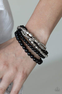 Paparazzi Metro Mix Up - Black Bracelet - Bling It On Online