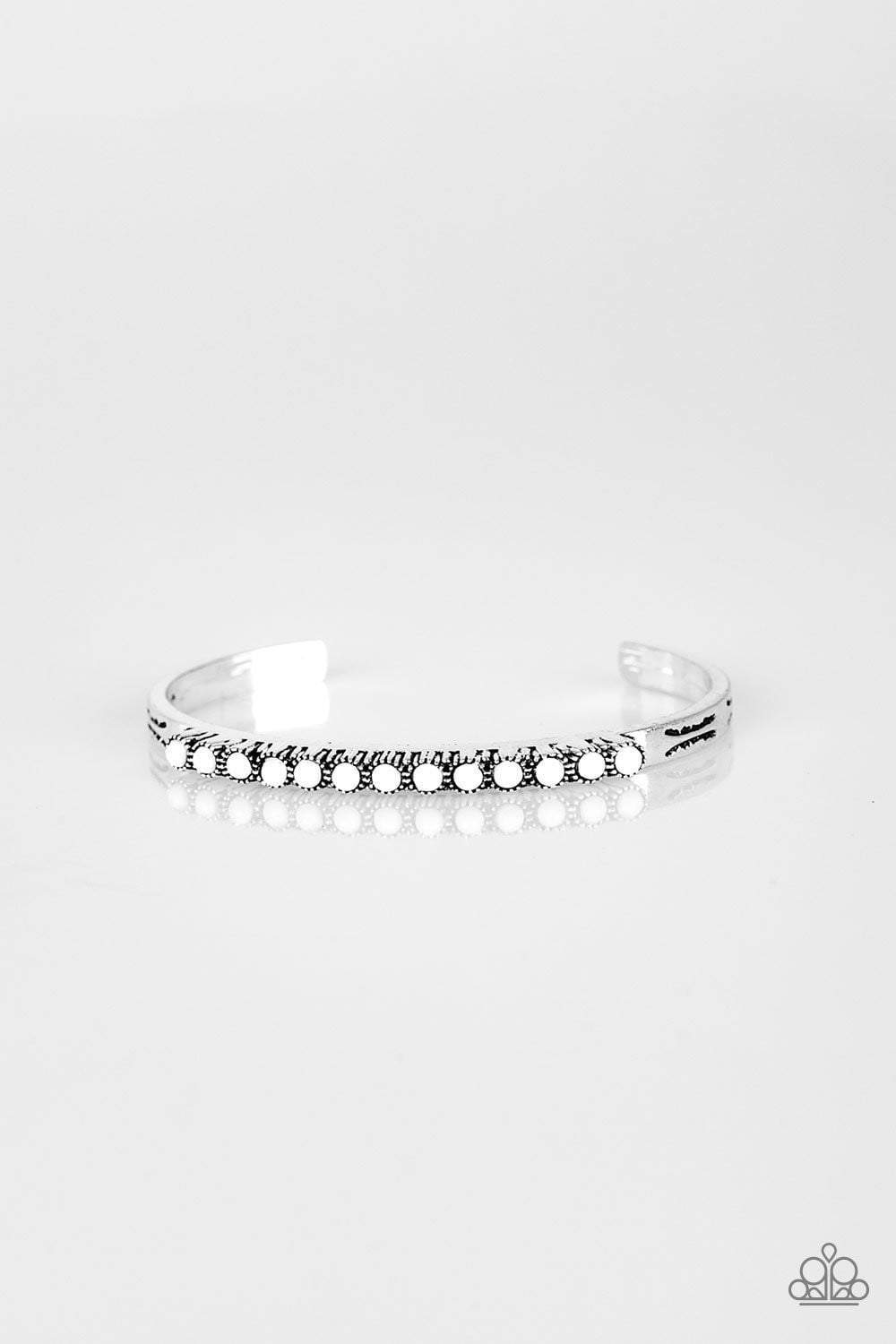 Paparazzi New Age Traveler - White Bracelet - Bling It On Online