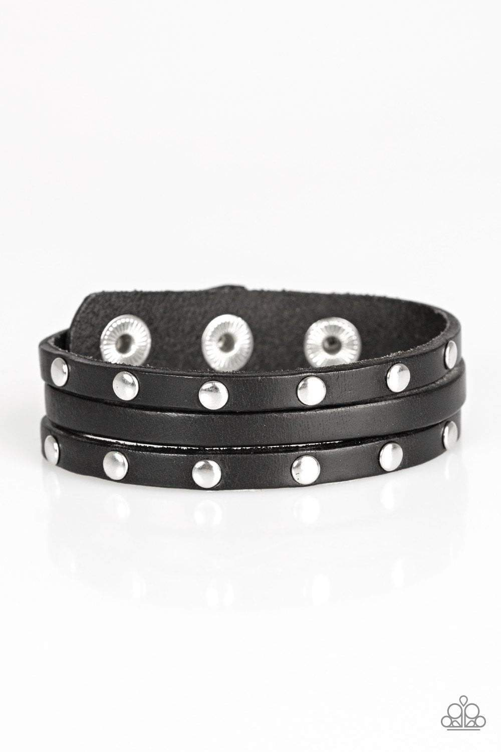 Paparazzi Radical Raider - Black Bracelet - Bling It On Online