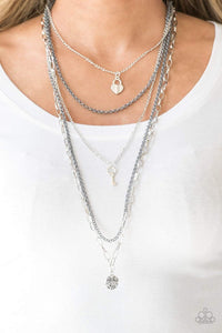 Paparazzi Right On Key - Silver Necklace - Bling It On Online