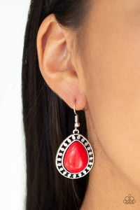 Paparazzi Sahara Serenity - Red Earrings - Bling It On Online