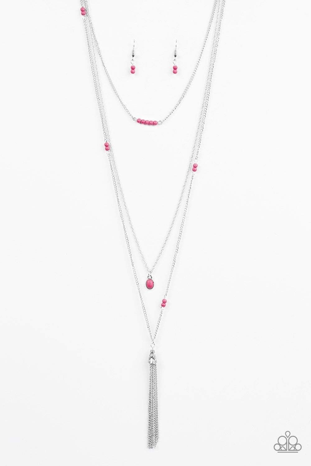 Paparazzi SANDSTONE Castles - Pink Necklace - Bling It On Online