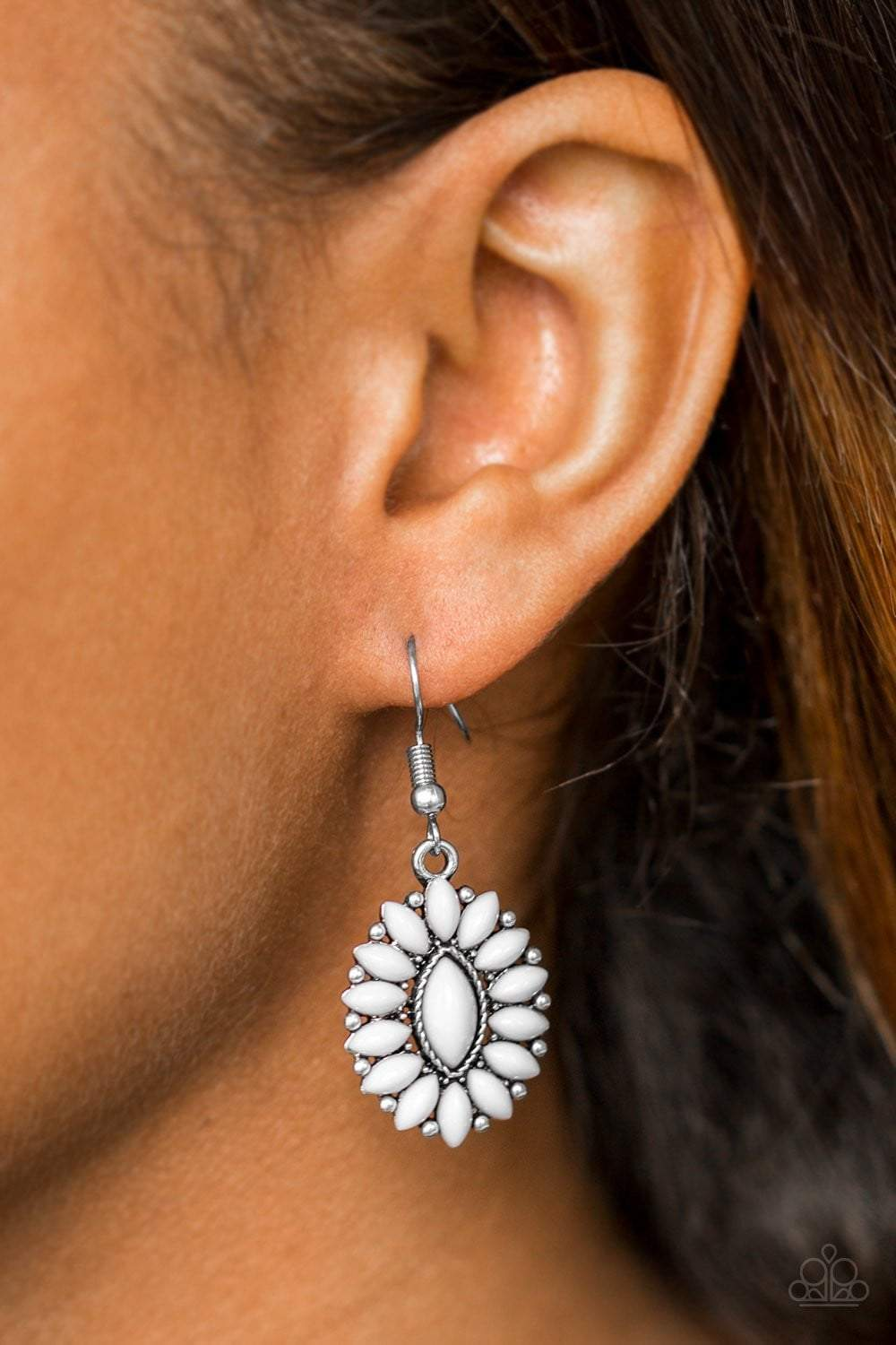Paparazzi Spring Tea Parties - Silver Earrings - Bling It On Online