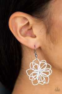 Paparazzi Springtime Serenity - White Wire Daisy Earrings - Bling It On Online