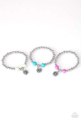 Paparazzi Starlet Shimmer Flower Charm Textured Bead Bracelet - Bling It On Online