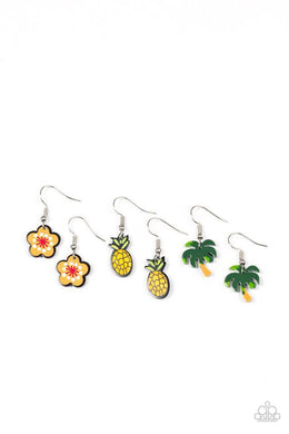 Paparazzi Starlet Shimmer Tropical Summer Theme Earrings - Bling It On Online