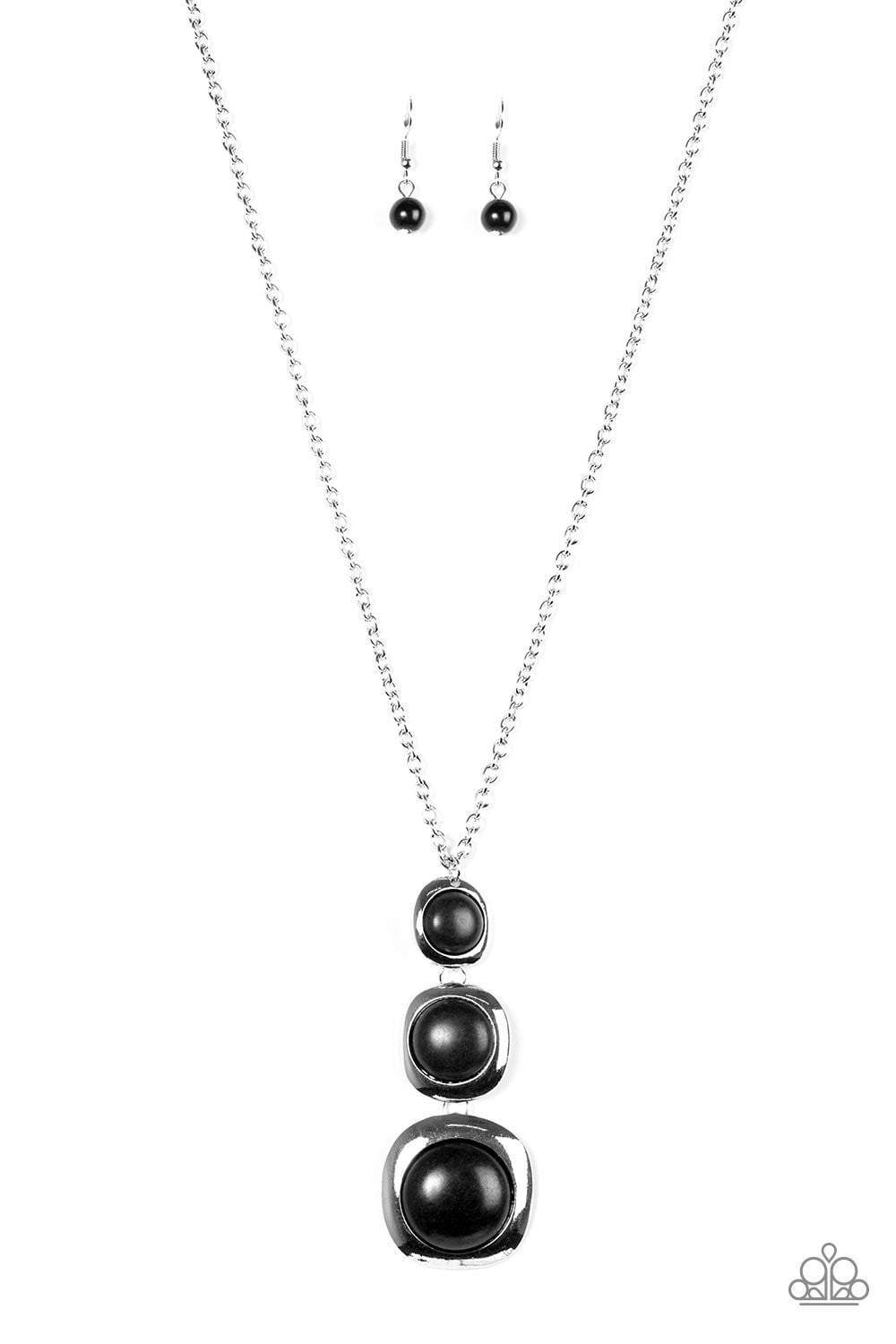 Paparazzi Stone Tranquility - Black Necklace - Bling It On Online