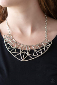 Paparazzi Strike While HAUTE - Silver Necklace - Bling It On Online