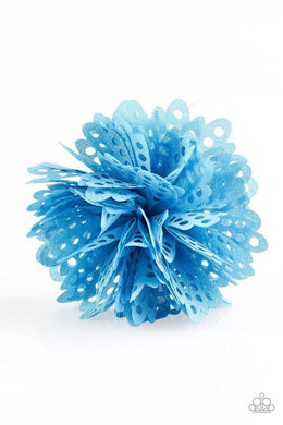 Paparazzi The Latest Buzz - Airy Blue Blossom Hair Clip - Bling It On Online