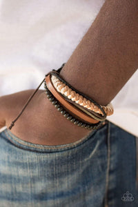 Paparazzi The Pioneer - Wooden Bead Leather and Cording Bracelet - Bling It On Online