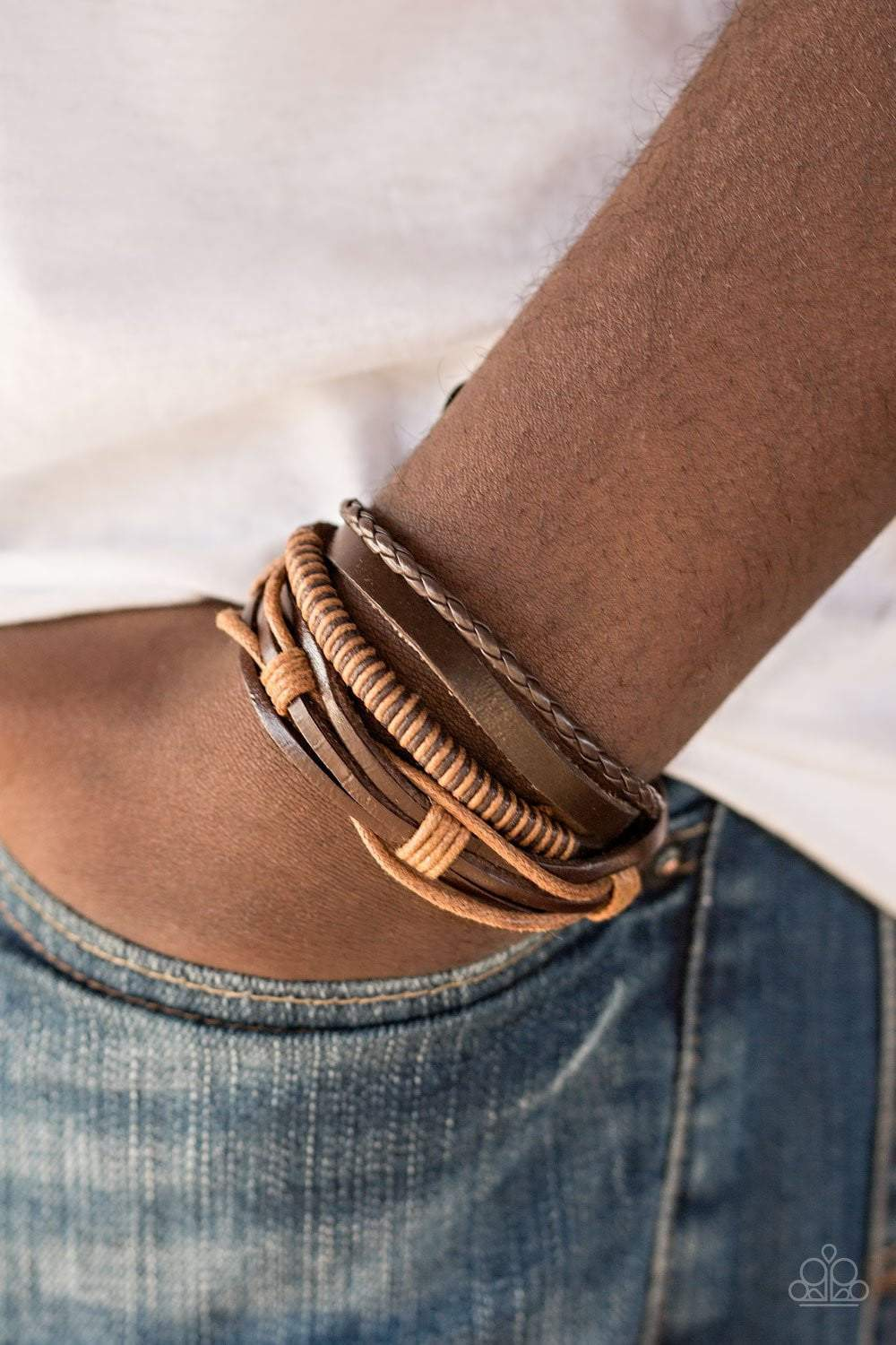 Paparazzi Trailbreaker - Brown Bracelet - Bling It On Online