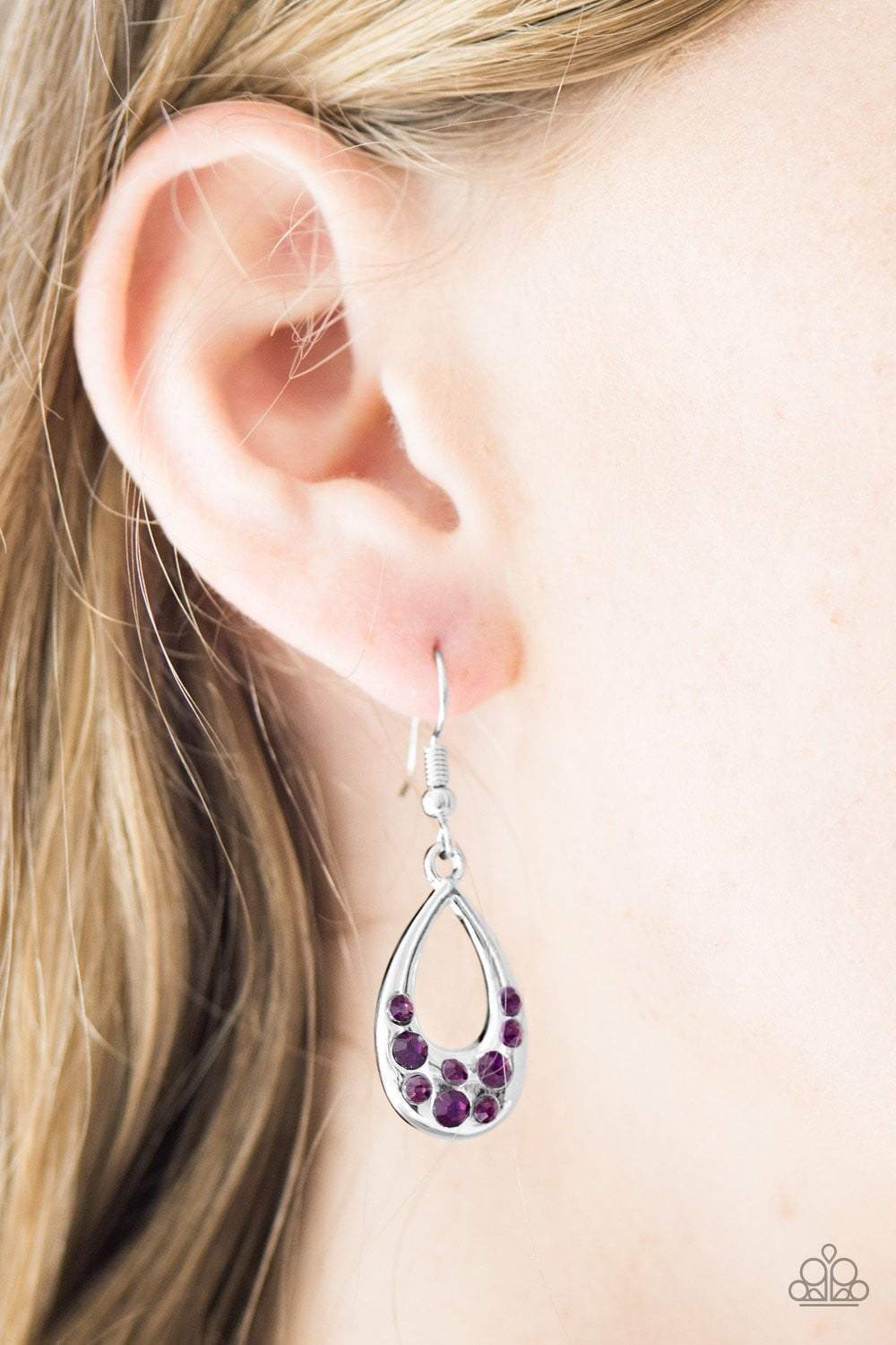 Paparazzi Twinkly Teardrops - Purple - Bling It On Online