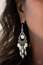 Load image into Gallery viewer, Paparazzi Western Wanderlust - White Earrings - Bling It On Online