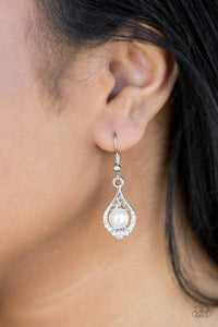 Paparazzi Westminster Waltz - White - Earrings - Bling It On Online
