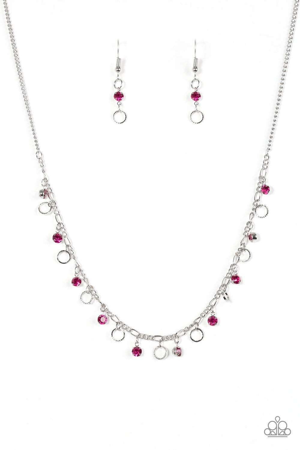 Parparazzi Dinner Party Demure - Pink Necklace - Bling It On Online