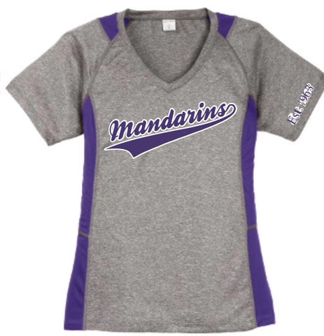 Baseball Shirt - Women's Grey and Purple