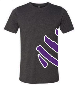 T-Shirt - Logo Wrap, Black/Purple