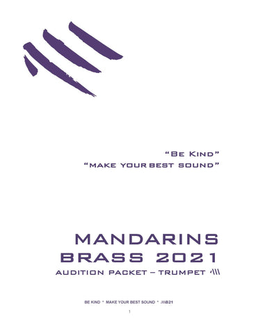 2021 - Brass Audition Packet - Trumpet