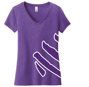 T-Shirt - Logo Wrap, Purple/Purple, V-Neck