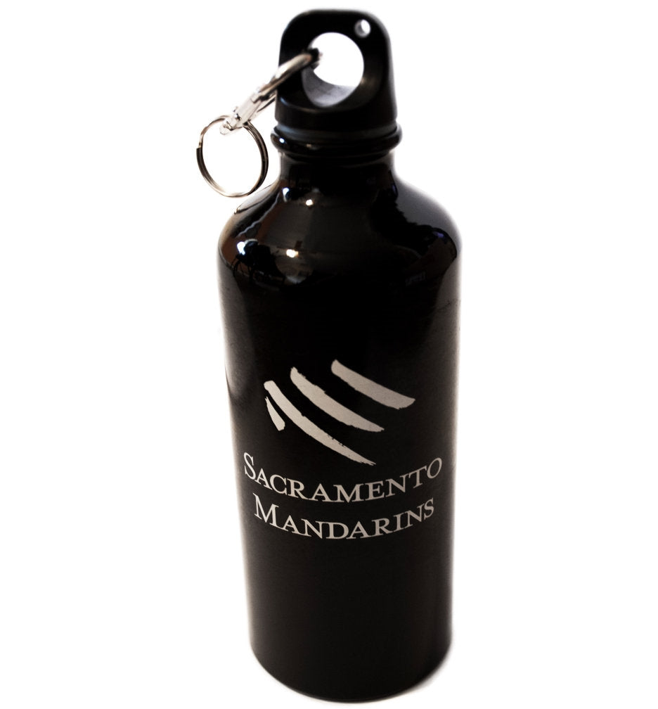 Mandarins Black Water Bottle