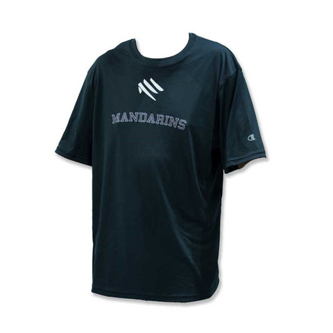 Mandarins Black Dri-Fit Crew Neck Shirt