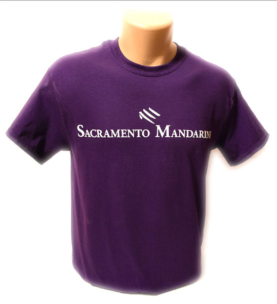 Purple Mandarins T-Shirt with White Lettering