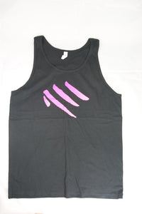 Tank Top - Black with Large Pink Logo