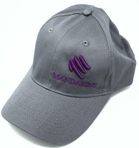 Cap - Gray with Purple Logo