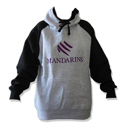 Mandarins Sweat Shirt Gray with Black Sleeves
