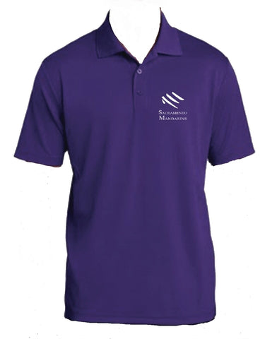 Mandarins Polo Shirt (Purple)