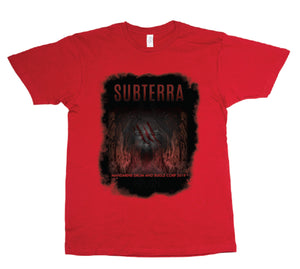 T-Shirt - Subterra Red with Face