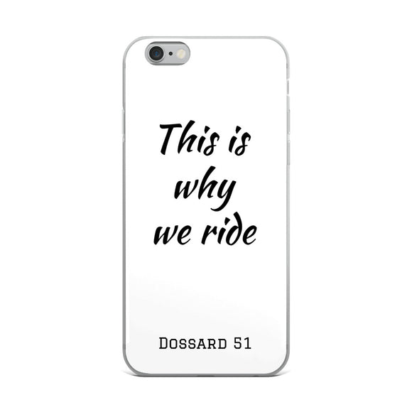 This is why we ride - Coque iPhone - Dossard 51 - cyclisme
