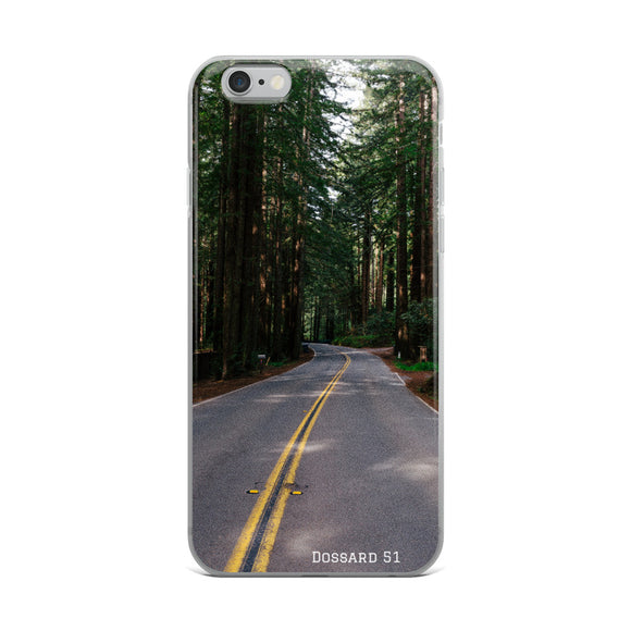 Forest road - Coque iPhone - Dossard 51 - cyclisme
