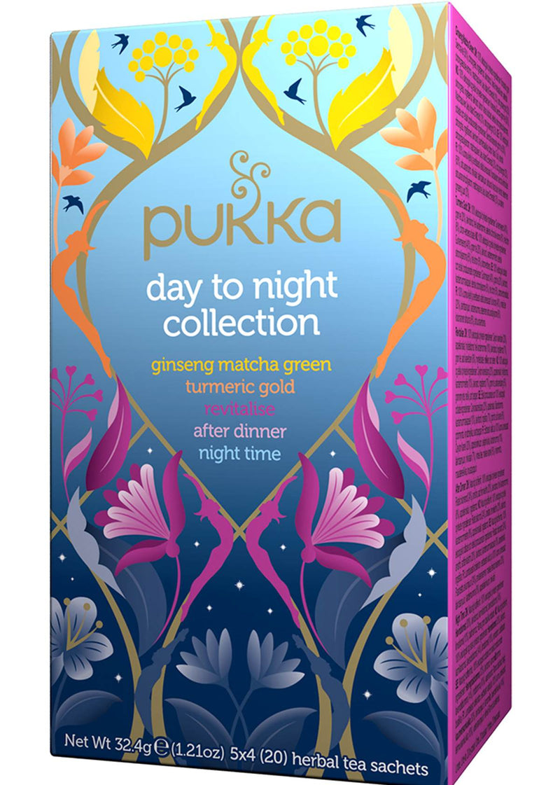 Mezcla de hierbas Day to Night Collection Pukka <br/> 36 grs